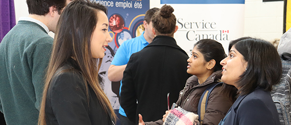 Employer Fair Partner and Student Talking